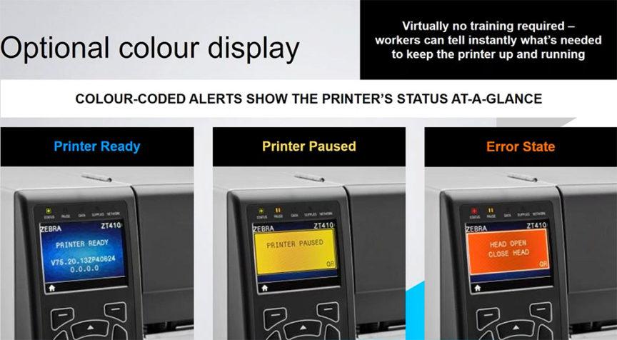 Zebra ZT410 - ZT420 Farbdisplay Option • Barcode Fonts